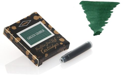 Diamine - Standard Ink Cartridges, Green Umber 6 cartridges – image 1