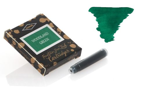 Diamine - Standard Ink Cartridges, Woodland Green 6 cartridges – image 1