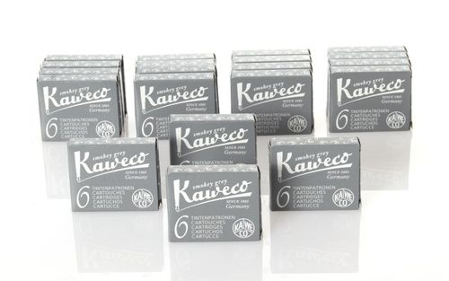 Kaweco Fountain Pen Ink Cartridges short, Smokey Grey (Grey), 120 pc.