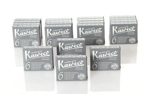 Kaweco Tintenpatronen kurz, Smokey Grey (Grau), 120 Stück