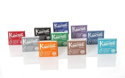 Kaweco Fountain Pen Ink Cartridges short, 10 colors, 10 x 6 pieces