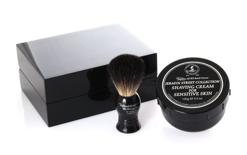 Taylor Gift Set Wooden Box, Shaving Cream 150g, shaving brush badger hair – image 1