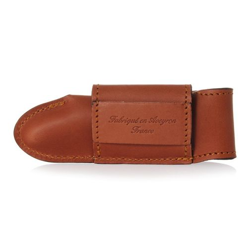 Max Capdebarthes Pocket knife sheath, Laguiole Trad. 12 cm, Maya (light brown) – image 2