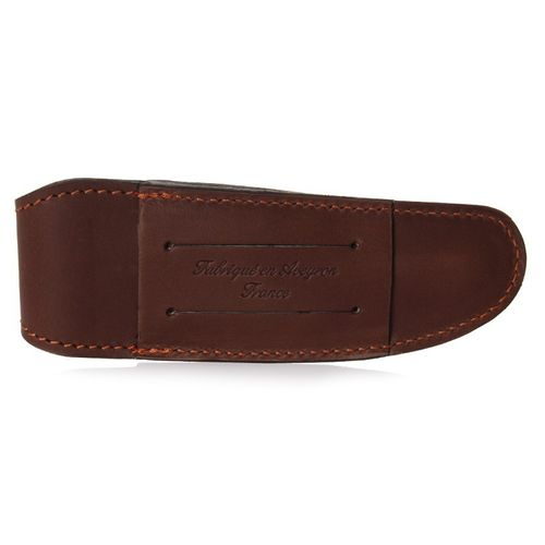 Max Capdebarthes Pocket knife sheath, Laguiole Class 12 cm, Choco (brown) – image 2
