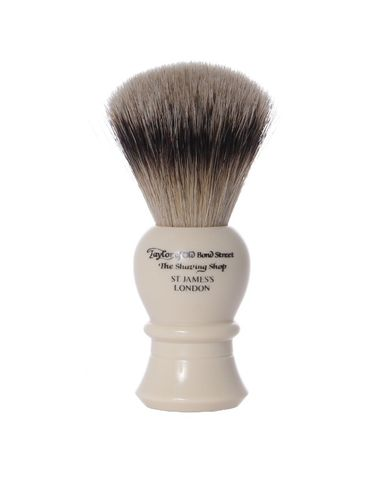 Super Badger Shaving Brush, 11,5 cm, medium, ivory - Taylor of old Bond Street – image 2