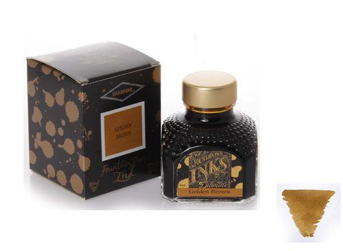 Diamine - Fountain Pen Ink, Golden Brown 80ml – image 1