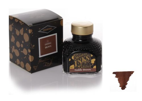 Diamine - Fountain Pen Ink, Saddle Brown 80ml – image 1