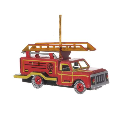 Fire Engine Truck, Tin Decoration - Nostalgic Tin Toy
