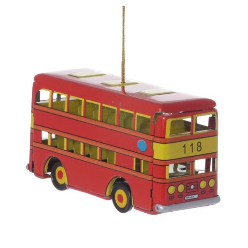 Double-Decker-Bus, Tin Decoration - Nostalgic Tin Toy