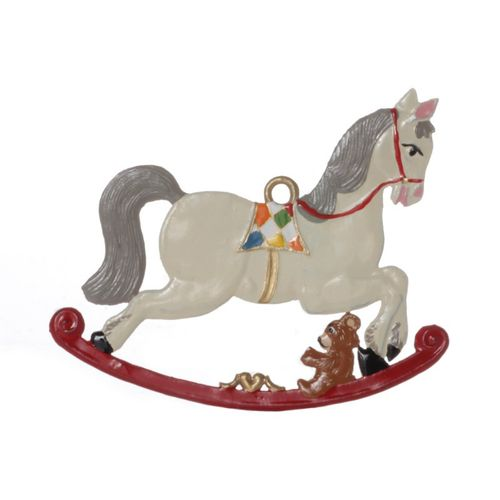 Tree decorations made of tin, Rocking horse - Wilhelm Schweizer - – image 1