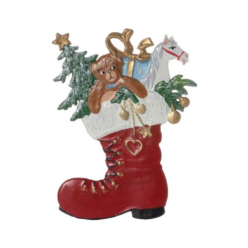 Tree decorations made of tin, boots - Wilhelm Schweizer - – image 1