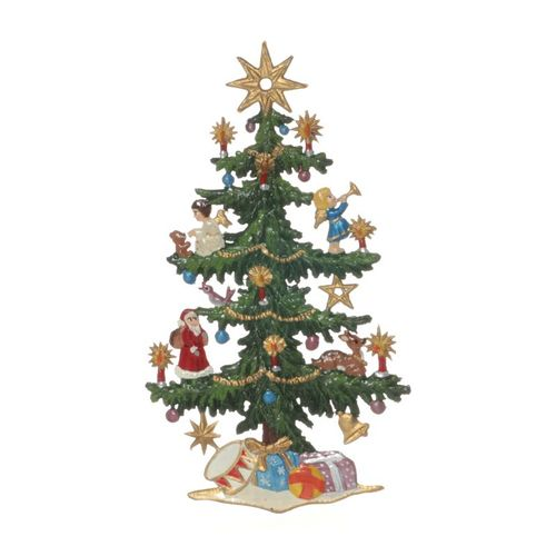 Tree decorations made of tin, Christmas tree - Wilhelm Schweizer - – image 1
