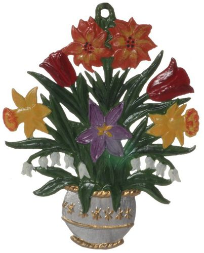 Flowers, tin, for hanging, assortment 5-pieces- Wilhelm Schweizer – image 2