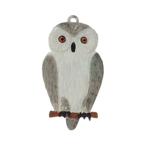 white owl, tin, for hanging - Wilhelm Schweizer – image 1