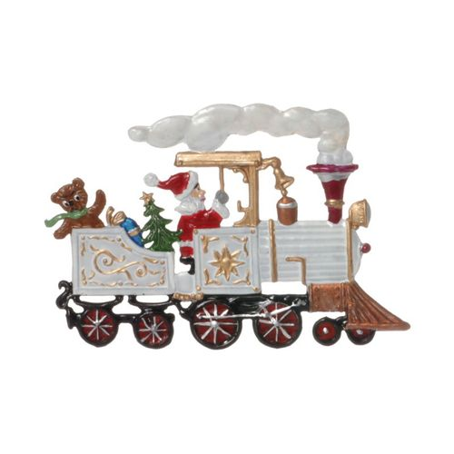 Tree decorations made of tin, Locomotive with Santa Claus - Wilhelm Schweizer - – image 1