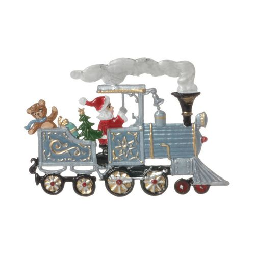 Tree decorations made of tin, Locomotive with Santa Claus - Wilhelm Schweizer - – image 3