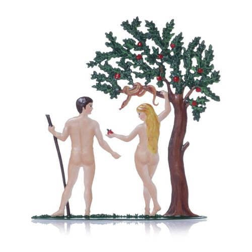 Adam and Eve, made of pewter - Wilhelm Schweizer - – image 2