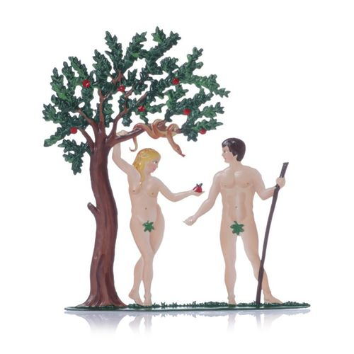 Adam and Eve, made of pewter - Wilhelm Schweizer - – image 1
