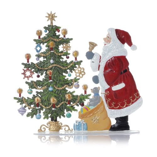 Santa Claus on Christmas tree, made of pewter - Wilhelm Schweizer -