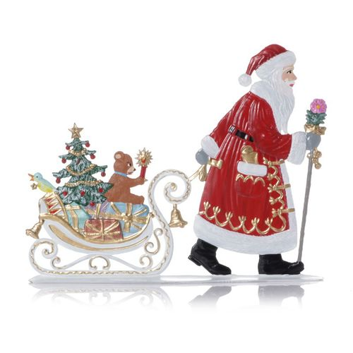 Santa Claus pulls sled, made of pewter - Wilhelm Schweizer - – image 2