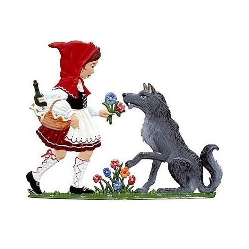 Little Red Riding Hood, made of pewter - Wilhelm Schweizer -