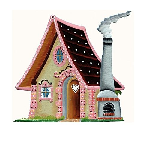 Gingerbread house, made of pewter - Wilhelm Schweizer -