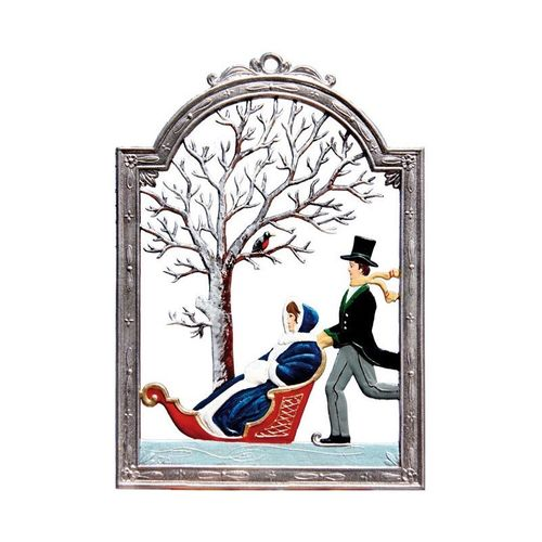 Winter, window painting from tin - Wilhelm Schweizer -