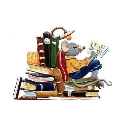 Reading mouse, made of pewter - Wilhelm Schweizer -