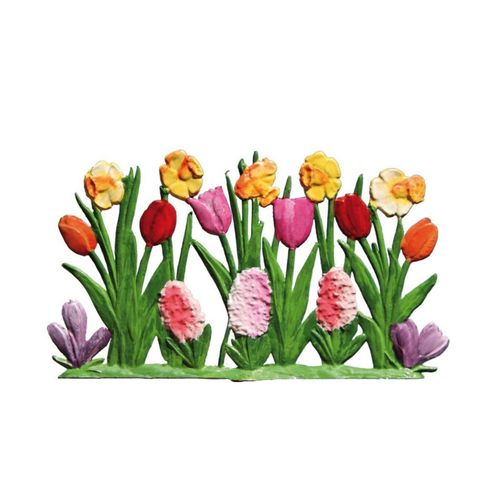 Tulips and daffodils, made of pewter - Wilhelm Schweizer -