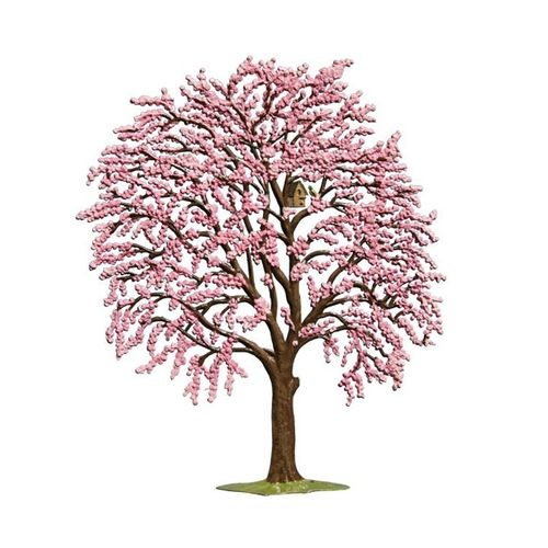Flower tree pink, made of pewter - Wilhelm Schweizer -