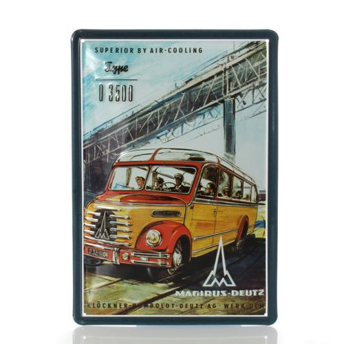 Magirus-Deutz Bus - Retro Tin Sign - 20 x 30 cm