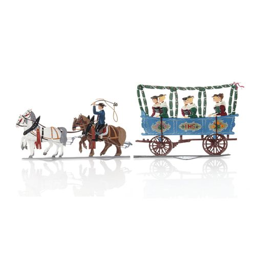 Jungfernwagen, Standfigur aus Zinnlegierung - Wilhelm Schweizer