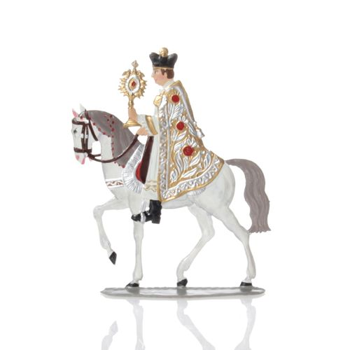 Priest on horseback, made of pewter - Wilhelm Schweizer -