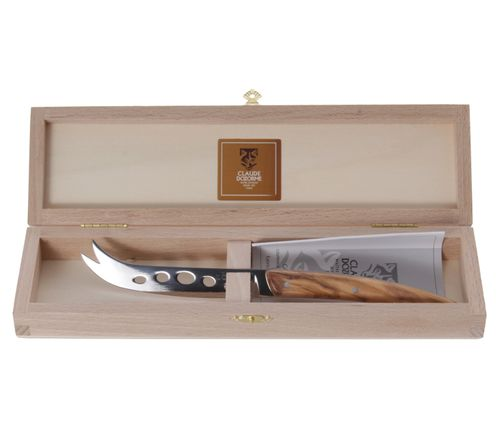 Claude Dozorme Cheese Knife, Olive Wood, Thiers, Beechwood Box – image 1