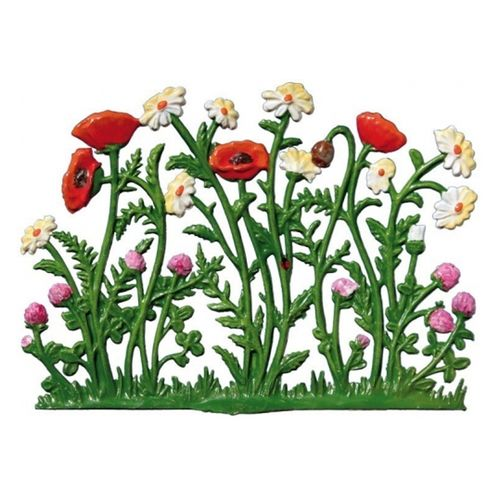 Poppies and marguerites, 5x9cm, made of pewter - Wilhelm Schweizer -