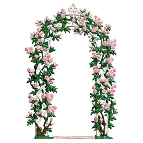 Rose arch, 13x9cm, made of pewter - Wilhelm Schweizer -