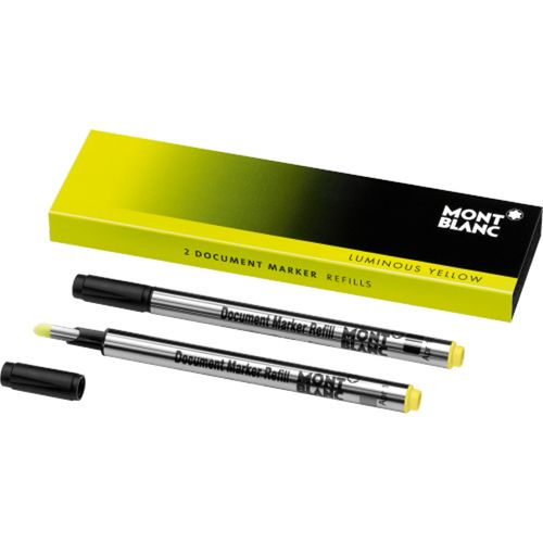 Montblanc 2 x Document Marker Refills Luminous Yellow