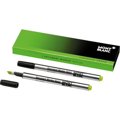 Montblanc 2 x Document Marker Refills Luminous Green