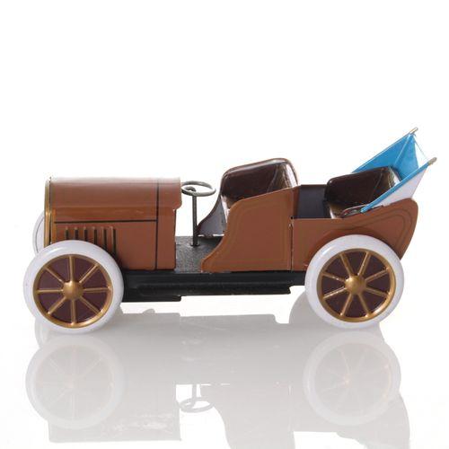 Oldtimer mit Faltdach, Aufziehwerk - Mechanisches Blechspielzeug – Bild 3