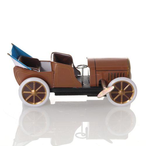 Oldtimer mit Faltdach, Aufziehwerk - Mechanisches Blechspielzeug – Bild 1