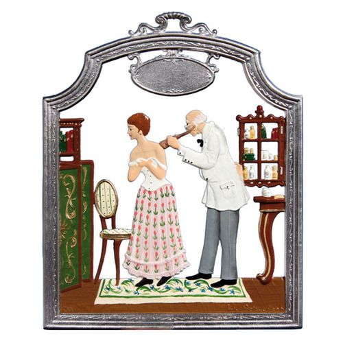 Profession Doctor, window painting from tin - Wilhelm Schweizer -