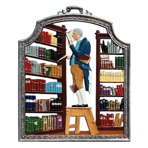 Profession librarian, window painting from tin - Wilhelm Schweizer -