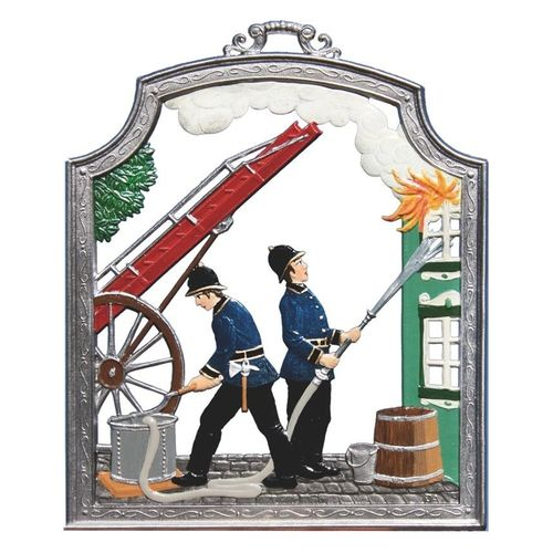 Fire Department, window painting from tin - Wilhelm Schweizer -