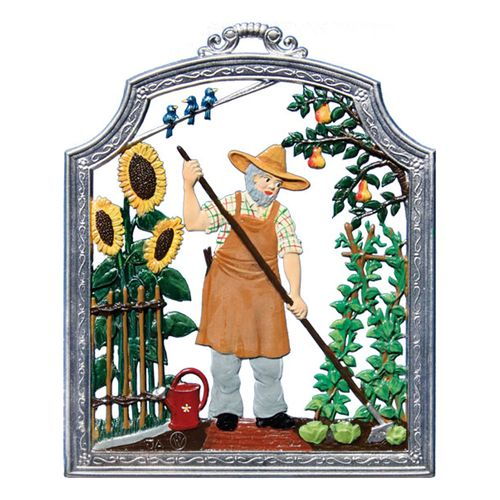 Profession gardener, window painting from tin - Wilhelm Schweizer -