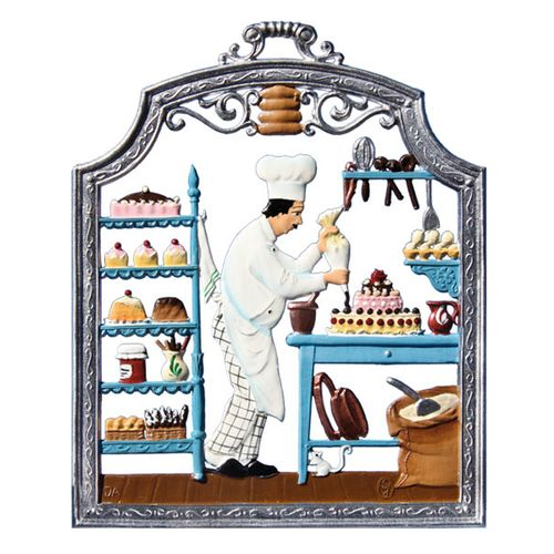 Profession Confectioner, window painting from tin - Wilhelm Schweizer -