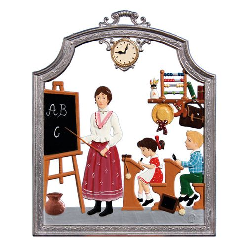 Profession schoolteacher, window painting from tin - Wilhelm Schweizer -