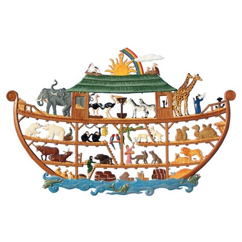 Noah's Ark, window painting from tin - Wilhelm Schweizer -