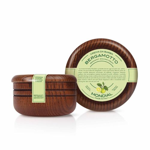 Antica Barberia Mondial - Bergamot - Luxury shaving cream, wooden bowl, 140ml