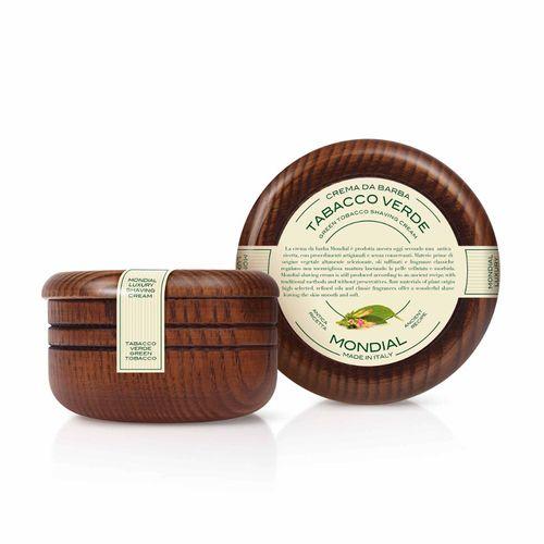 Antica Barberia Mondial - Grüner Tabak - Luxury Rasiercreme, Holzschale, 140ml