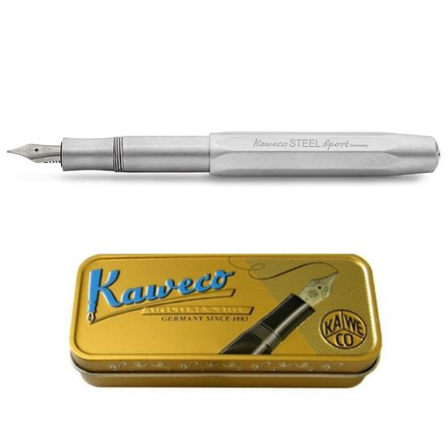 Kaweco Sport Steel Fountain Pen, stainless steel, F (Fine)